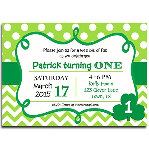 St. Patrick's Day Invitation Printed - Birthday, St. Patty's Party, Irish Event Invitation