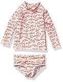Amazon Essentials Baby Girls 2-Piece Long-Sleeve Rash Guard Set