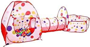 Youkara 1x Bola de Oceano Bola/Ola Bola Sala de Carpa de Piscina Habitación de Juego de Juguete para Niños Tienda de Túnel de Rastreo Interior 3 Sets (Color 300CMX120CMX90CM)