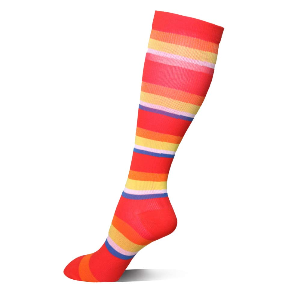 卒業圧縮ソックス20 – 30 mmHg – 中程度レディース&メンズの圧縮ストッキングfor Running、クロスフィット、travel- Suits、看護師、妊娠、脛骨過労性骨膜炎 B071HLBJ3Y S/M レインボー レインボー S/M, 調理道具専門店 エモーノ b87d284a