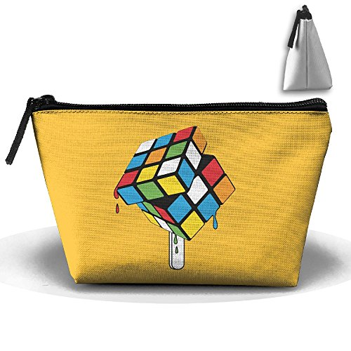 Price comparison product image Melting Rubik's Cube Trapezoidal Travel Portable Receiving Bag Make-up Cosmetic Bag Sewing Kit Stationery Bags Multi-function Bag