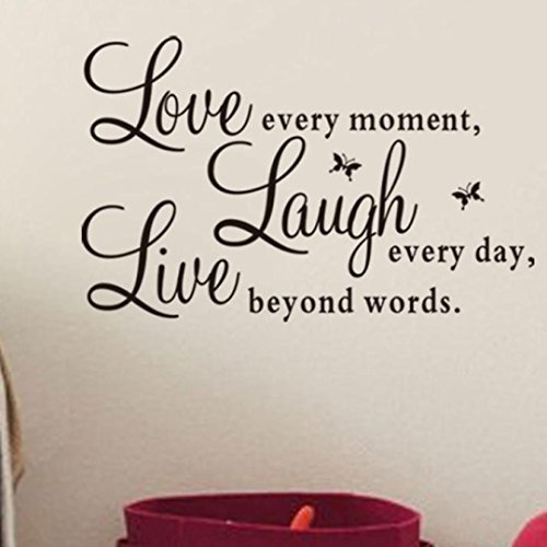 Wall Sticker Live Love Home Decor Wall Art For Kids Home Living Room House Bedroom Bathroom Kitchen Office
