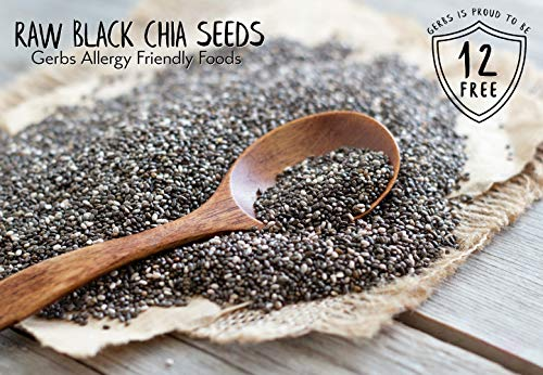 Raw Black Chia Seeds 2 Lbs By Gerbs Top 12 Food Allergy