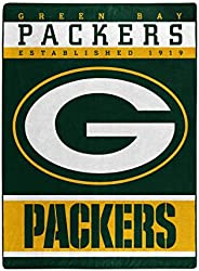 """The Northwest Company Officially LicensedNFL Green Bay Packers 12th Man Plush Raschel Throw Blanket, 60"""""""