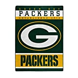 The Northwest Company Officially Licensed NFL Green Bay Packers 12th Man Plush Raschel Throw Blanket, 60' x 80'