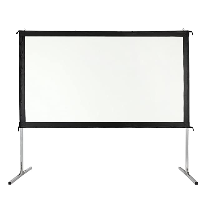 "Homegear Fast Fold Portable 110"" Projector Screen 16:9 HD for Indoor/Outdoor Use Projector Accessories at amazon"