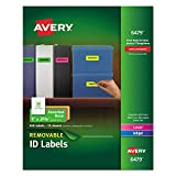 Avery Multipurpose Label - 1quot; Width x 2.63quot; Length - 360 / Pack - Rectangle - 30/Sheet - Paper - Laser, Inkjet - Assorted