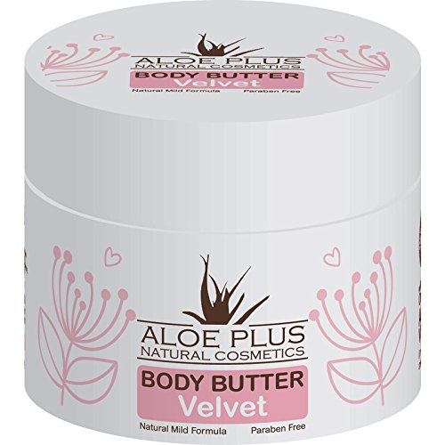 Aloe Plus Body Butter 200ml - with 100% Organic Aloe vera , Shea Butter, Cocoa Butter, Avocadin and Plum oil. (Velvet)