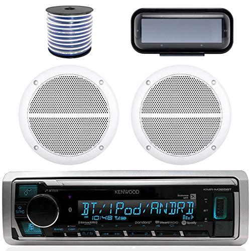 - Kenwood Marine Bluetooth Radio  In-Dash Boat Audio Receiver Bundle with Pair of Enrock 6.5