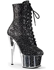 Pleaser Adore-1020G Exotic Dancing Clubwear Sexy Glitter Ankle/Mid Calf Hi Boot.
