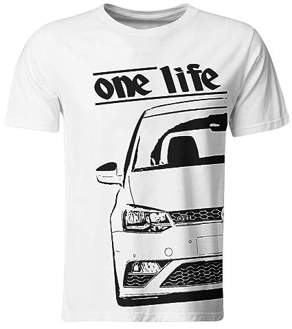 One Life – Camiseta/Polo 6R Blanco/Talla M para niños.: Amazon.es ...