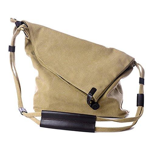 fanhappygo Fashion Canvas Unisex Tasche Handtasche Umhängetasche Handtasche Messenger Taschen Leinwand Tasche Khaki