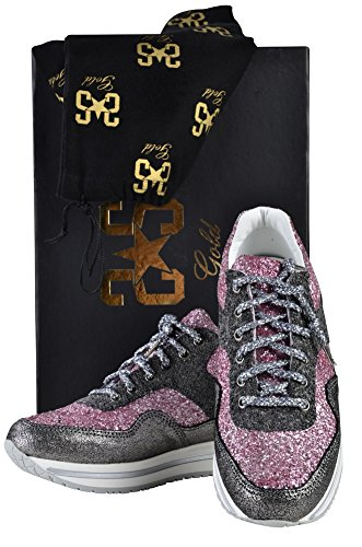 Women's Boots Beaded Shoes Gray 2Star Gold Pink 37 YxTXwz5Eq