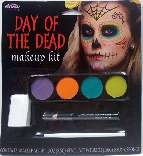 Day of the Dead Makeup Kit - (Sugar Female) (Day Of The Dead Female Makeup Kit)