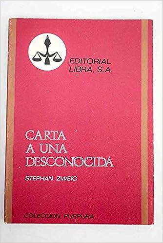 Carta a una desconocida - Leporella - El refugiado: Amazon ...