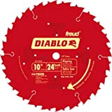 Freud D1024X Diablo 10-Inch 24-Tooth ATB Ripping Saw Blade with 5/8-Inch Arbor and PermaShield Coating, (D1024X)