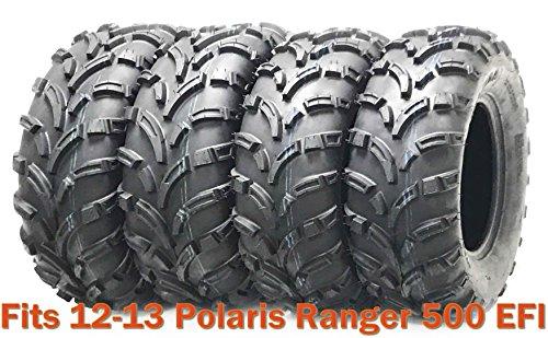 Set 4 WANDA ATV tires 25x8-12 & 25x11-12 for 12-13 Polaris Ranger 500 EFI (6 Ply Vs 8 Ply Trailer Tires)