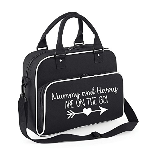 Personalised mummy and baby name are on the go changing bag baby personalised mummy and baby name are on the go changing bag baby nappy bags baby bags negle Images