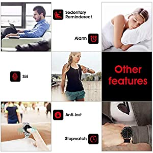 Diggro Bluetooth Smart Watch DI02 DI03 MTK2052C Heart Rate Monitor Pedometer Sleep Monitor Microphone Speaker Siri for Android iOS from Diggro