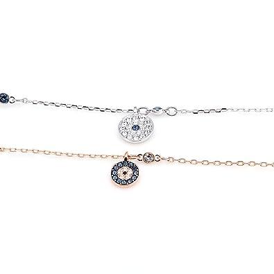 28ded67e9d6 Swarovski Crystal Wishes Evil Eye Bracelet Set - Blue - 5272256  Amazon.ca   Jewelry
