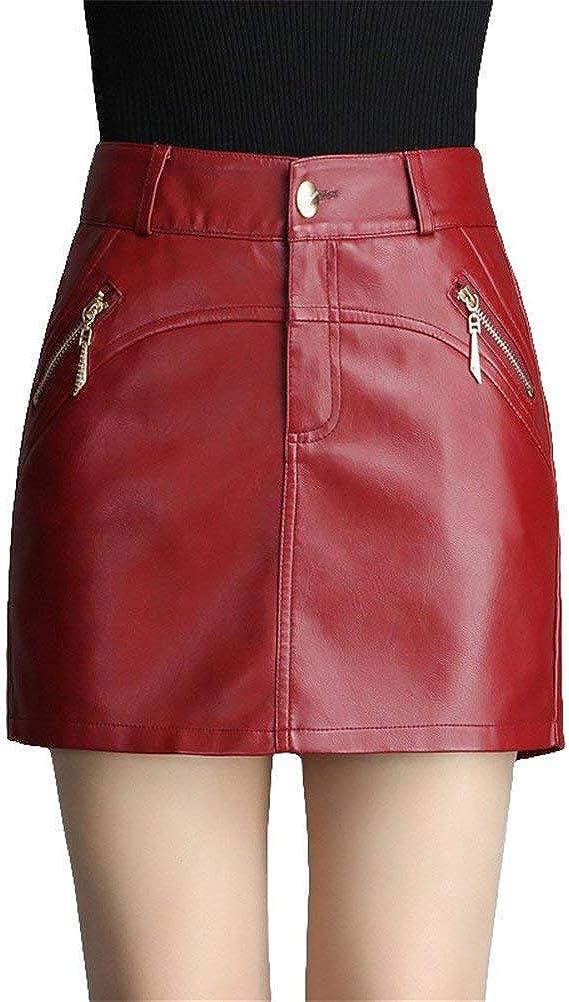 Lannister Pantalones Cortos para Mujer De Mujer Bolso Salvaje Ropa Pantalones Ropa Festiva De Cuero Pantalones Cortos De Cintura Alta Falda Falda De Cuero PU Botas Negras