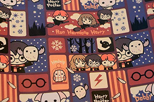 Gift Wrap - Harry Potter Hermione Ron Dobby Hedwig Wrapping Paper 20 sq ft. 1 Roll -