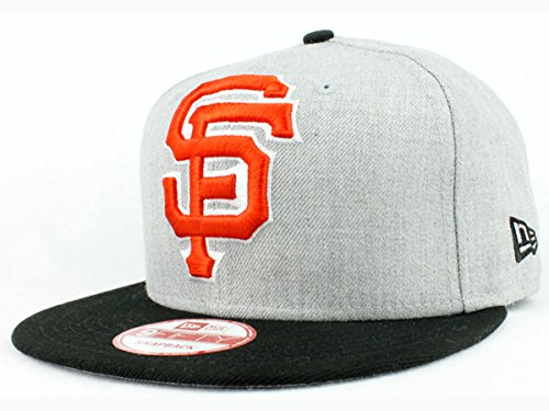MLB Teams New Era Heather Grand 9FIFTY Adjustable Snapback Hat Authentic Baseball (San Francisco Giants Body)