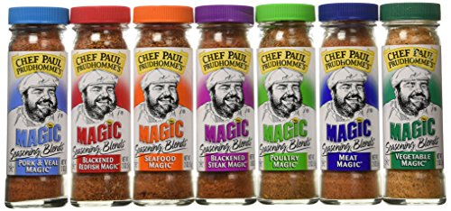 Chef Paul Prudhomme's Magic Seasoning Blends ~ Magic 7-Pack, Qty. 7 2-Ounce Bottles ()