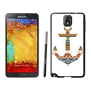 Awesome Samsung Galaxy Note 3 Case Anchor Aztec Silicone Black Phone Back Cover by lolosakes