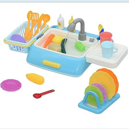 28pcs enfants en plastique simulation électrique évier lave