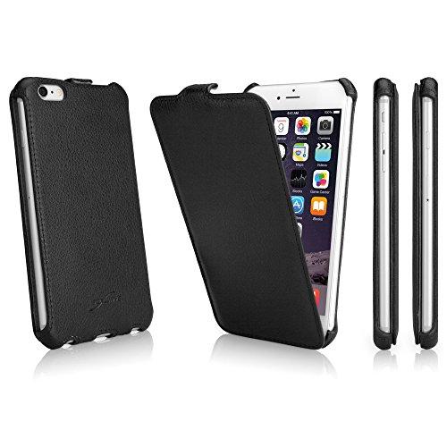 BoxWave Étui iPhone 6Plus Coque BoxWave Étui à rabat en cuir pour Apple iPhone 6Plus–slim Housse étui à rabat vertical en cuir synthétique étui en similicuir, fabriqué avec–Apple iPhone 6Plus e