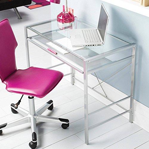 Mainstays Glass-top Desk, Black