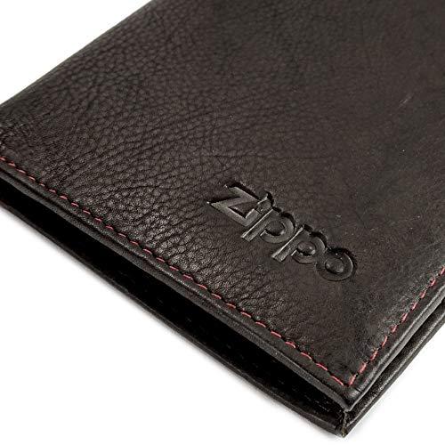 Zippo Genuine Leather Bi-Fold Men's Wallet & Money Clip - Mocca Brown