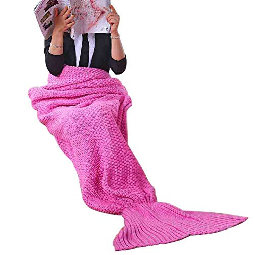 RG Mermaid Blankets And Mermaid Tail Blanket For Adult Child Super Soft Warm Fish Tail Sofa Sleeping Bags Crochet (55.1