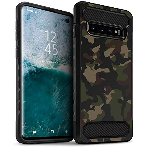 (Galaxy S10 Case, Evocel [Dual Lite Series] Lightweight & Slim Profile Dual Layer Phone Case for Samsung Galaxy S10 (SM-G970), Camouflage)