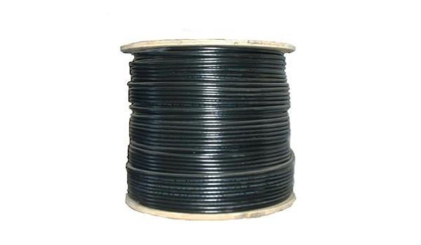 Belden cable coaxial RG-6 Inundado negro 1.000 de bobina: Amazon.es: Electrónica