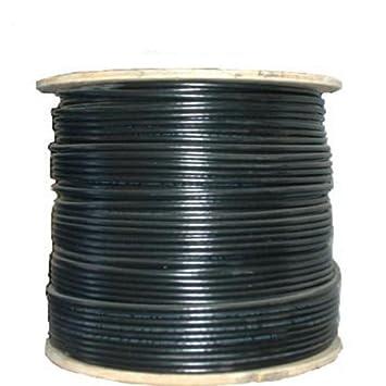 Belden cable coaxial RG-6 Inundado negro 1.000 de bobina
