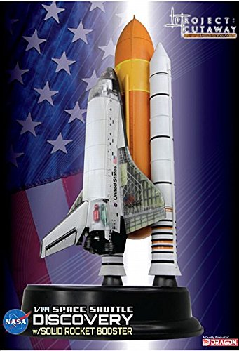Shuttle Discovery with Solid Rocket Booster Spacecraft Building Kit (Cutaway Views), 1/144-Scale (Discovery 1 Models)