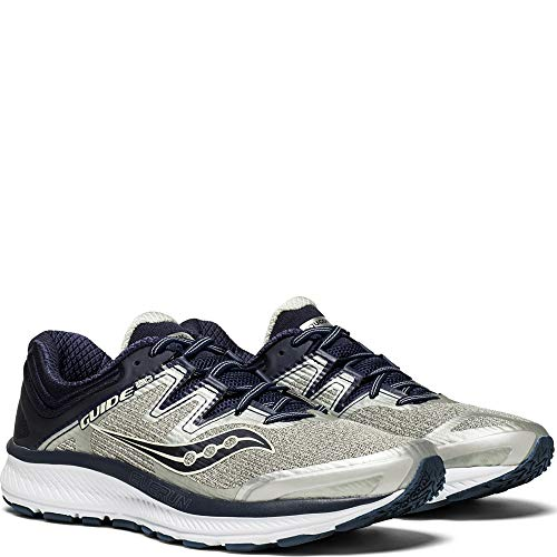 Saucony Men's Guide ISO Running Shoe, Grey/Navy, 12 Medium US