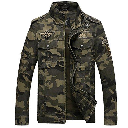 ZOPPO Men's Field Windbreaker Cotton Camouflage Military Bomber Jacket