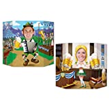 Oktoberfest Photo Prop (1 side male; other side female) Party Accessory  (1 count) (1/Pkg)