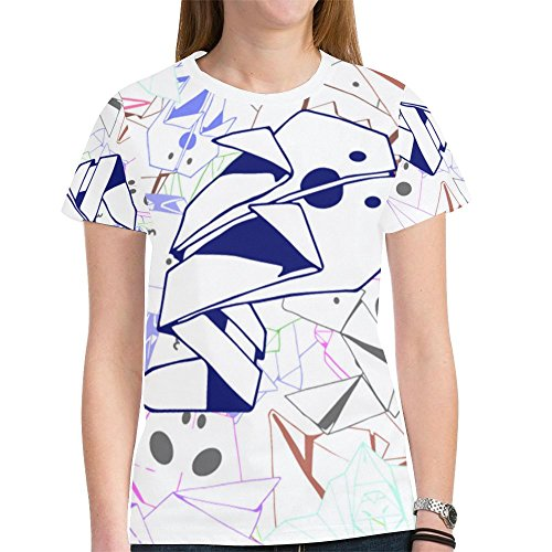 LIULI Women Casual Graphic O-Neck T-Shirt, Origami Halloween Ghost Printed Short Sleeve,Fantasy Summer Top Tee For Women