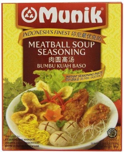 Munik Kuah Bakso (Sopa de albóndigas condimentos), 58 gramos: Amazon.es: Alimentación y bebidas