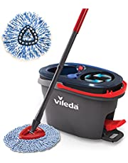 Vileda EasyWring RinseClean Spin Mop & Bucket System with 1 Extra Refill