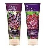 organics desert essence shampoo - Desert Essence Organics Italian Red Grape Shampoo & Conditioner Bundle - 8 fl oz ea