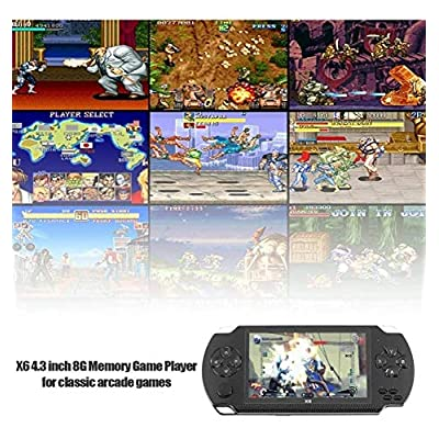 Handheld Video Game Console 8GB, 4.3-inch LCD Screen Game Console Connected to The TV, can Play Video Games, Digital Camera Functions (Black): Toys & Games