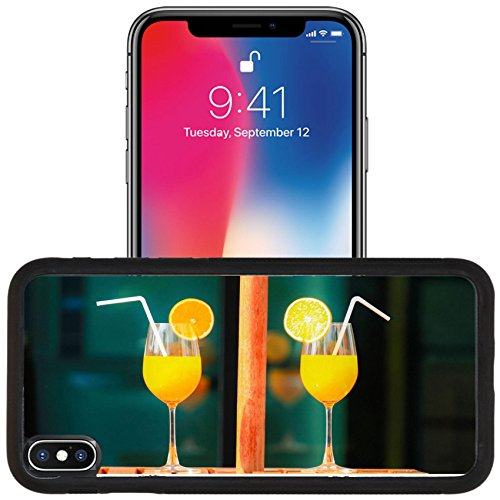 Luxlady Apple iPhone x iPhone 10 Aluminum Backplate Bumper Snap Case IMAGE ID 32691334 Orange juice in summer day for healthty