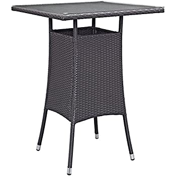 Charming Modway Convene Small Outdoor Patio Bar Table, Espresso
