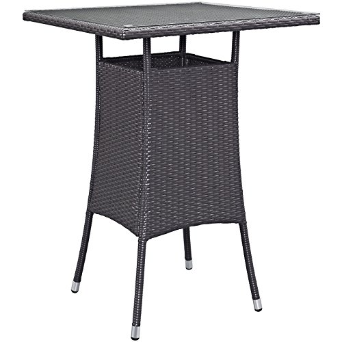 Modway Convene Small Outdoor Patio Bar Table, Espresso by Modway