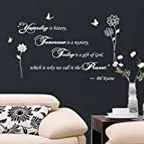 i.LifeUK - Fancy Writing Yesterday-Today-Tomorrow Quote Wall Art Decals Window Decoration Stickers - Gold